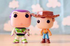 Woody and Buzz funko Funko Pop Toys, Funko Pop Figures, Vinyl Figures, Action Figures, Disney Pixar, Disney Pop, Disney And Dreamworks, Toy Story, Woody E Buzz