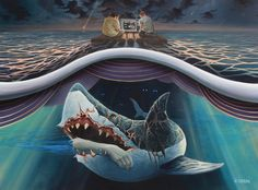 Surreal Illustrations Explore What's Underneath The Ocean Surface