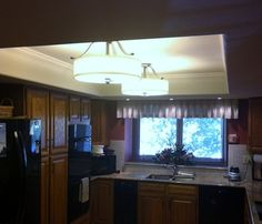Kitchen Lighting Makeover 1980 39 S Kitchen Lighting Updated