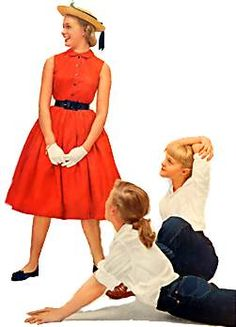 50s teens. Note the white gloves worn for special occasions like going to church or downtown.
