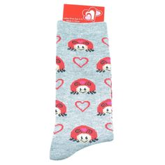 Womens Socks | Feb. 14 Womens Ladybugs Crew Socks | Shopko.com