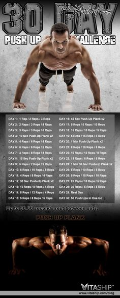 30-Day Push Up Challenge and the Top Benefits of Push ups
