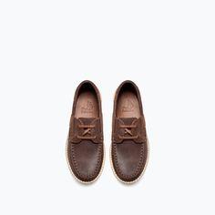 TRACK-SOLE LEATHER DECK SHOE-Shoes-Boy-KIDS-SALE AW.14   ZARA United States