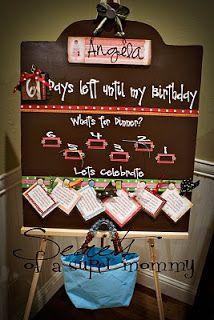 Secrets of a Super Mommy: Birthday Countdown Board~Tutorial