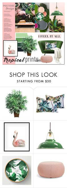 """""""Tropical Prints"""" by rubyrenolds ❤ liked on Polyvore featuring interior, interiors, interior design, home, home decor, interior decorating, Nearly Natural and Arper"""