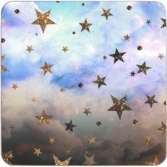 NIKKI STRANGE Cloudy Stars coasters set of 4 (1.770 RUB) ❤ liked on Polyvore featuring home, kitchen & dining and bar tools