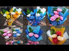 DIY Felt Rose Flower   Cara Membuat Bunga Mawar dari Kain Flanel - YouTube Felt Roses, Paper Roses, Felt Flowers, Fabric Flowers, Hand Flowers, Diy Flowers, Flower Decorations, Fabric Flower Tutorial, Newspaper Crafts