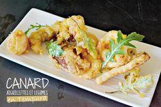 Recette canard - Tempura d'aiguillettes de canard et légumes sur kaderickenkuizinn.com