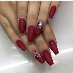 Best Nail Art Design With Crimson Beautiful Nail Art, Gorgeous Nails, Matte Nails, Glitter Nails, Crome Nails, Manicure E Pedicure, Great Nails, Bridal Nails, Hot Nails
