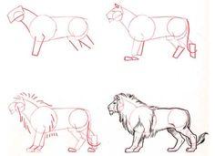 dibujos de perfil de leon - Buscar con Google