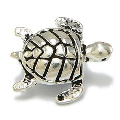 Turtle Charm - Sea Turtle Charm - Fits Pandora Charm Bracelet  Charm Necklace - Silver Plated - List price: $29.95 Price: $9.95