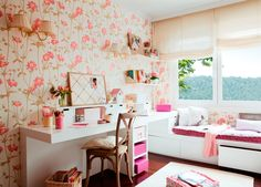 girly room - my ideal home. Teenage Girl Room Decor, Teen Girl Rooms, Girl Decor, Room Girls, Girl Bedrooms, Home Bedroom, Bedroom Decor, Kids Bedroom, Bedroom Furniture
