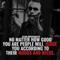 True said Joker Heath Ledger Joker Quotes, Best Joker Quotes, Badass Quotes, Wisdom Quotes, True Quotes, Words Quotes, Funny Quotes, Sayings, Mindset Quotes