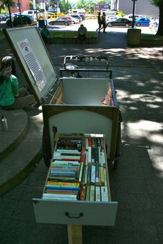 Bike-Powered Mobile Library Brings Books To Portland's Homeless
