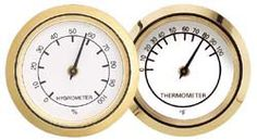 Mini Economy Hygrometer and Thermometer Clock Inserts - $7 each