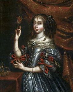 Portrait of Queen Eleonora Wiśniowiecka with a tulip, circa 1672