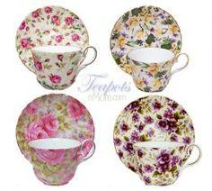 Heirloom Tudor Chintz Assortment Bone China Tea Cup & Saucer Set