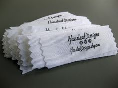 Pear Tree Stitching: how to make fabric labels
