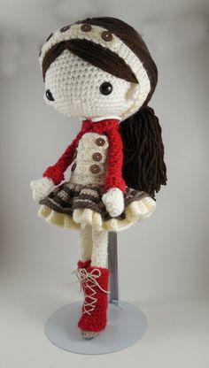 Olivia Amigurumi Doll Crochet Pattern PDF von CarmenRent auf Etsy