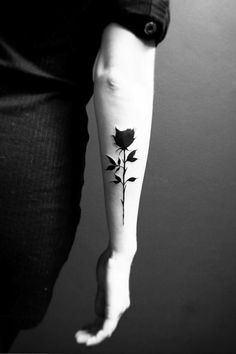 #BlackRoseTattoo::A black rose is a sign of many things. Hope, grief, rebellion, and death are just a few of its connotations.