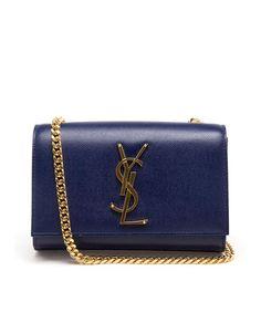 SAINT LAURENT | Monogram Small Chain Bag Yves Saint Laurent Bags, Rich Girl, Blue Gold, Tech Accessories, Zip Around Wallet, Monogram, Shoulder Bag, Purses, Band