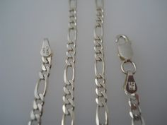 Sterling Silver 925 Figaro Necklace Chain 16in 3.5mm AS by Replays