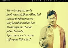 Urdu quotes - We All Know Zakir Khan, The Comedian Now Meet Zakir Khan, The Shayar! Shyari Quotes, Hindi Quotes On Life, Quotable Quotes, Friendship Quotes, Life Quotes, Relationship Quotes, True Love Poems, Love Quotes Poetry, Mixed Feelings Quotes