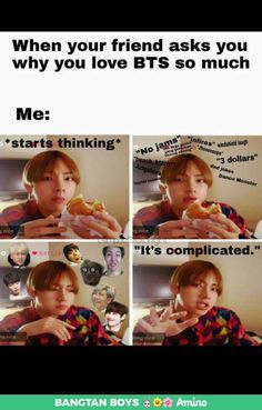 This book includes all funny BTS Memes and which are really very funny and relatable. And I am putting the MEMES which I found funny So al. Bts Taehyung, Kookie Bts, Bts Bangtan Boy, Namjoon, Jimin, Fan Fiction, K Pop, Famous Meme, Bts Memes Hilarious