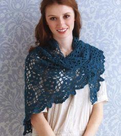 FIFIA CROCHETA blog de crochê : xale de crochê triangular com gráfico