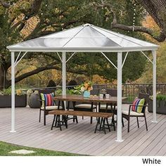 Hardtop Gazebo Canopy Awnings Aluminum Framed Rust Proof Boat Shade 10 X 10 Freeportpark Aluminum Gazebo Patio Gazebo Patio
