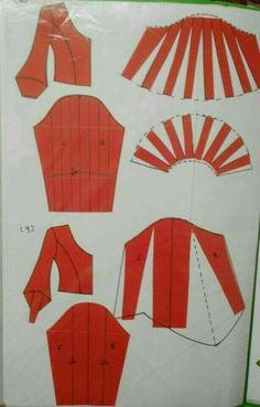 Sewing Lessons, Sewing Hacks, Sewing Tutorials, Sewing Projects, Sewing Paterns, Dress Sewing Patterns, Clothing Patterns, Pola Lengan, Sewing Collars