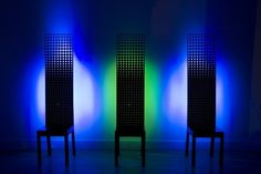 Moritz Waldemeyer, By Royal Appointment chairs, 2007DuPont Corian and LEDsEdition of 15