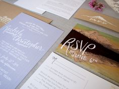 hand-lettered invitations via Engaged & Inspired