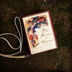 #aliceinwonderland #bookbag by #krukrustudio #alicesadventuresinwonderland #lewiscarroll #bookpurse #fauxleatherbags #bookclutch