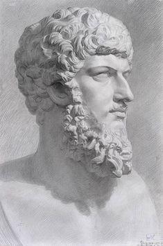 Голова Люция. Вера.Б. гр. кар. 76,5x52.1 курс 1999г / The head of Lucius