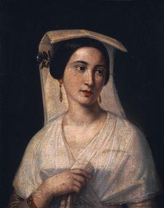 Pachis Charalambos, Young woman from Corfu, ca Greek Paintings, Greek Beauty, Edgar Degas, 10 Picture, Halloween Makeup Looks, Greek Art, Chiaroscuro, Corfu, Impressionist