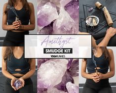 Smudge Kit with Amethyst, Palo Santo, White Sage, and Mayan Copal Incense Sticks. Smudge Stick, Smudge, Crystals, Sage, Healing Crystals Aztec Culture, Like Fine Wine, Spiritual Awareness, Smudge Sticks, Incense Sticks, Best Yoga, Crystal Healing, Smudging, Maya