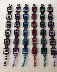 Bead Loom Bracelets, Beaded Bracelet Patterns, Beading Patterns, Diy Jewelry, Beaded Jewelry, Jewelry Making, Jewellery, Bracelet Tutorial, Loom Beading
