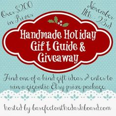 Lauren Paints | a beautiful life: Handmade Holiday Gift Guide and Giveaway {ends 11/23} #handmadeholidaygiveaway
