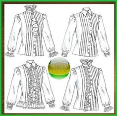 19thC. Early Victorian Ladies Blouse Patterns