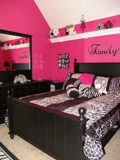 Zebra Print Rooms mommy lou who: hot pink zebra room - : zebra print bedroom