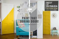 I admit it may be difficult to get excited about doors. They're essential for privacy and security but we hardly ever think of them as stylish. Paint Companies, Painters Tape, Pink Flamingos, Doors, Stylish, Creative, Painting, Home Decor, Decoration Home