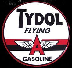 """Flying A Tydol Gasoline 24"""" Sign- www.garageart.com"""