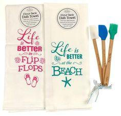 Brownlow Flour Sack Dish Towel Better Beach Flip Flops Mini Kitchen Spatula Set - FUNsational Finds - 1