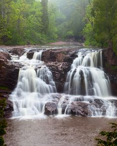 Gooseberry Falls, North Shore of Lake Superior in #Minnesota