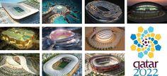 Eccovi le immagini degli strabilianti progetti degli stadi in costruzione in Qatar in vista dei Mondiali 2022, dei veri gioielli dell'architettura moderna