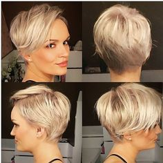 100 Mind-Blowing Short Hairstyles for Fine Hair - Tapered Pixie with Feathered Layers - Bob Hairstyles For Fine Hair, Haircuts For Fine Hair, Short Pixie Haircuts, Pixie Hairstyles, Short Hairstyles For Women, Short Hair Cuts, Short Hair Styles, Hairstyle Short, Thin Hair Pixie