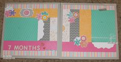 I really like this layout using CTMH Dream Pops paper, expect for what I call the parentheses pieces.  My cropping friends know that I am not a fan of those.