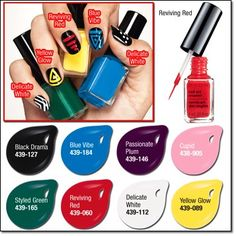 Nail Art Enamel allows you to make great designs without weakening your manicure .... but remember to finish with the U/V Gloss Protection Top Coat.