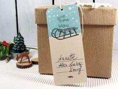 Geschenkanhänger - Geschenkanhänger Weihnachten Weihnachtsanhänger - ein Designerstück von DesignArbyte Christmas Presents, Gift Tags, Ale, Place Cards, Place Card Holders, Gifts, Presents, Xmas Gifts, Ales